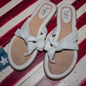 BOC Sandals White M/W 7/38 Born Concept